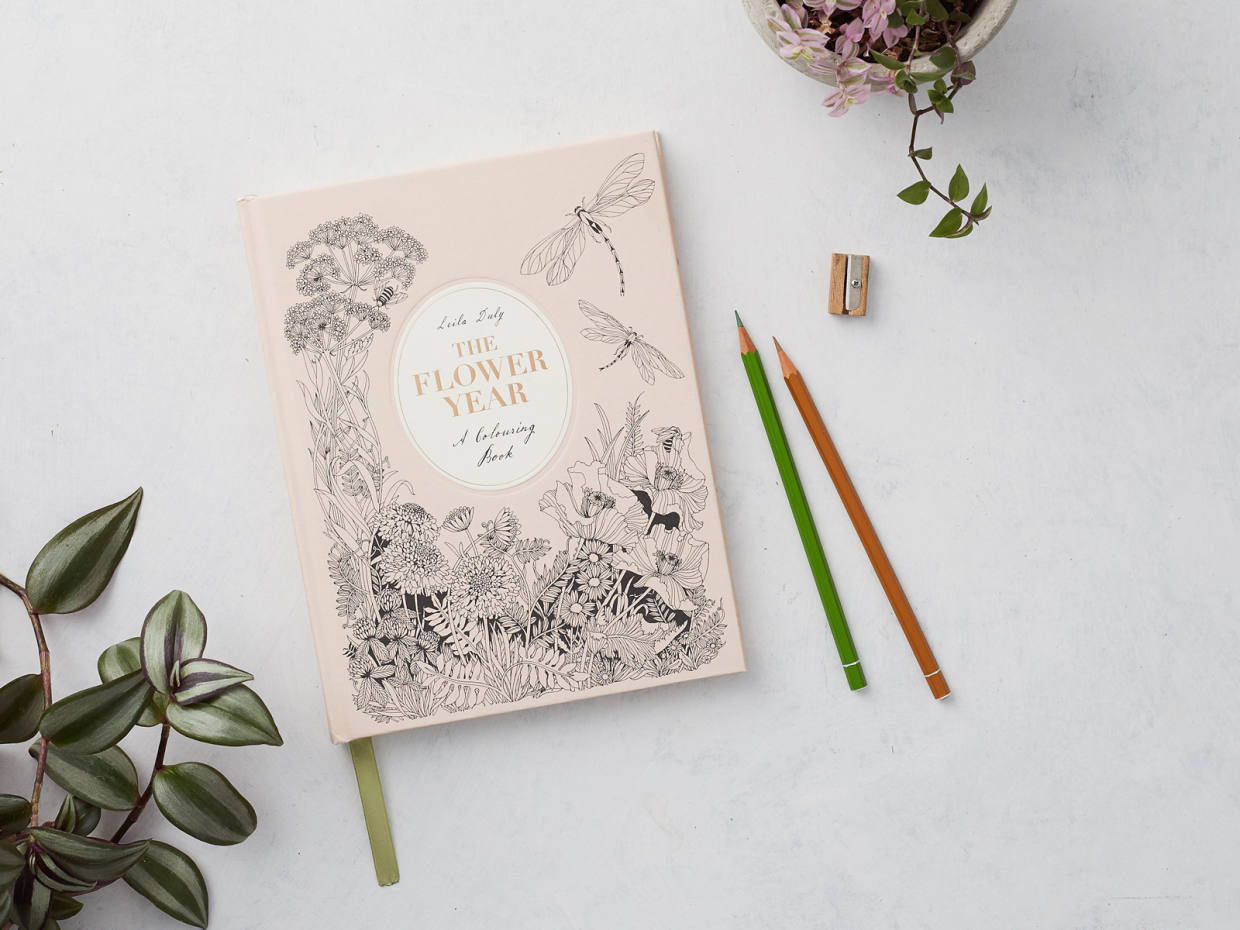 The Flower Year: A Coloring Book by Leila Duly (Laurence King, $14.99)
