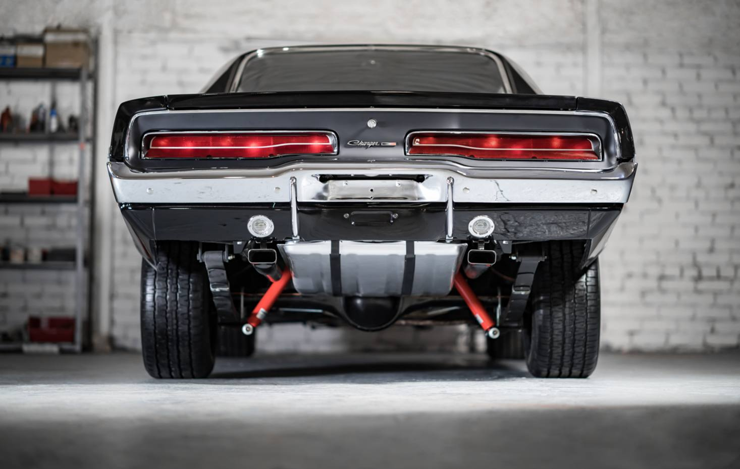 This restored Dodge Charger is almost identical to the muscle machine that co-starred in the 1968 Steve McQueen detective thriller Bullitt
