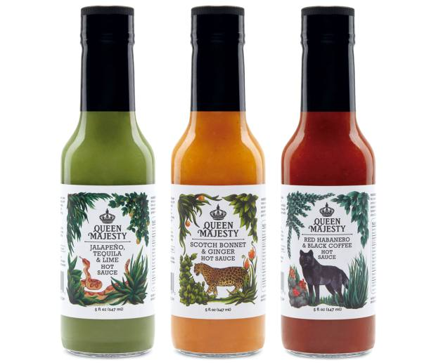Queen Majesty Hot Sauce sampler, $25
