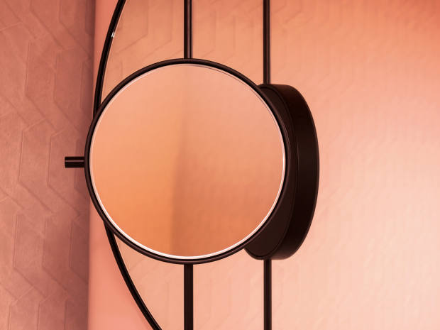 Studiopepe Revolving Moon wall mirror from the project Club Unseen, shown at this year's Milan Design Week