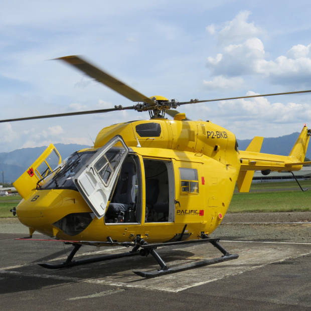 One of the aircraft used for Steppes Travel's new bespoke helicopter safaris