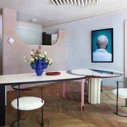 La Mesure du Temps – the retrofuturist design for a Parisian apartment by Italian architects Marcante Testa