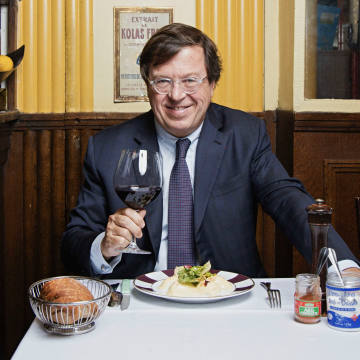 Michel Bernardaud at Yves Camdeborde's restaurant Le Comptoir, in Paris