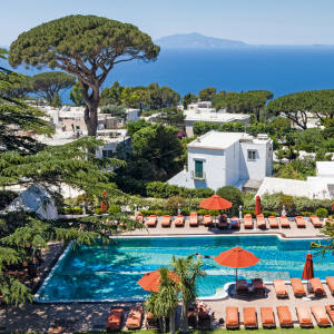 The Capri Palace Hotel in Anacapri overlooks the Amalfi Coast