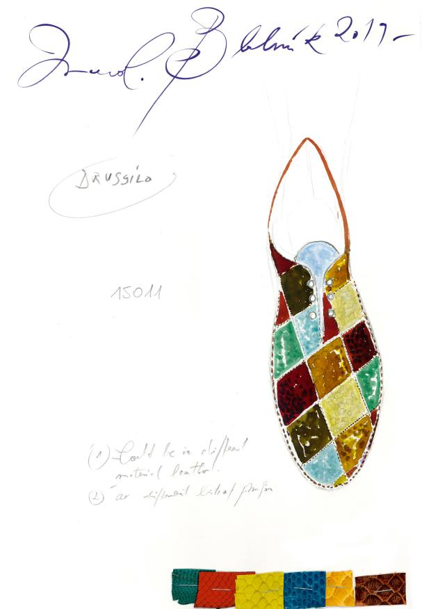 Sketch of a prototype shoe