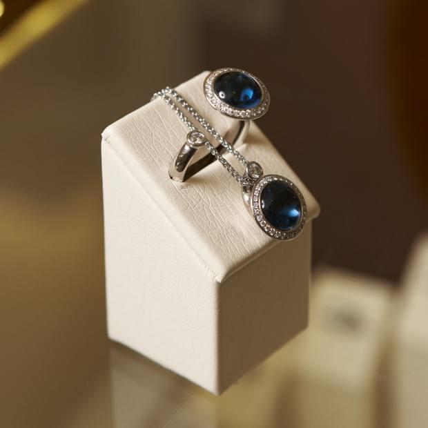 Satellite ring, £3,245, and pendant, £3,345