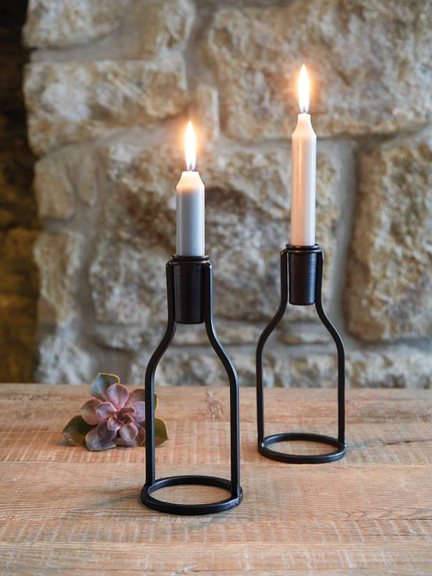 Nordic House metal candle holders, £9 each