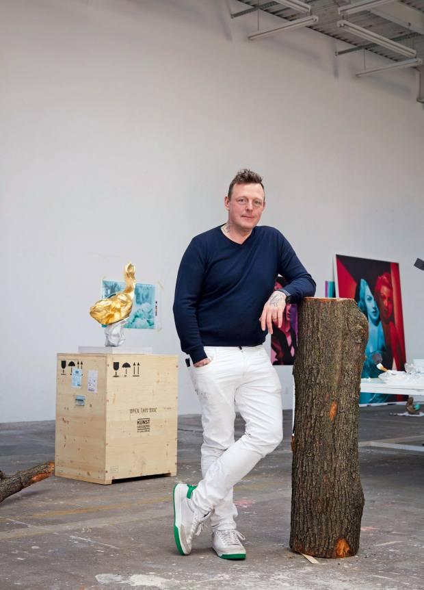 Swiss-born artist Urs Fischer, whose playful design acts like a serene white canvas with a mischievous twist