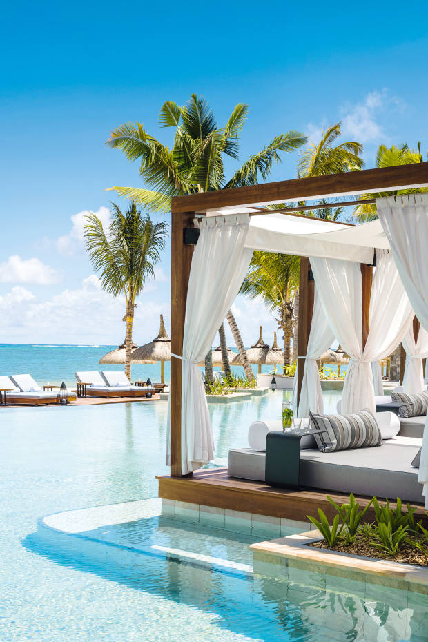 The renovated One&Only Le Saint Géran in Mauritius boasts a private beach and up-close access to a gentle turquoise lagoon