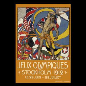 Olle Hjortsberg's poster for the 1912 Olympics.