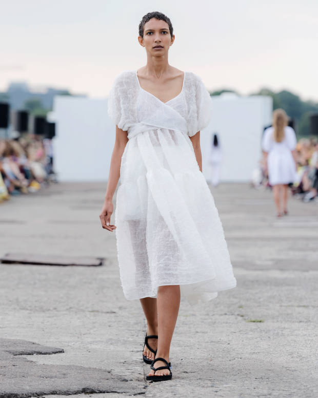 Bahnsen's signature look on thes/s 2020 catwalk