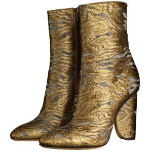 Dries Van Noten boots in cotton brocade and leather, £425