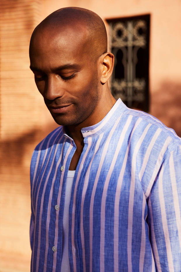 The three styles of shirt in Turnbull & Asser's Striped Linens collection are all priced £215