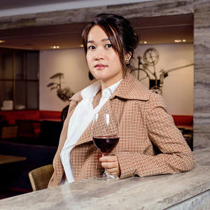 Sonia Cheng in Michelin-starred Duddell's, Hong Kong