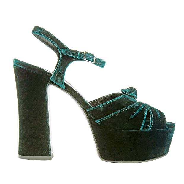 Saint Laurent velvet Candy platforms, £535