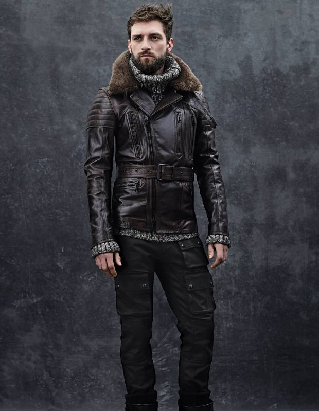 Belstaff heritage-leather Falmouth jacket, £1,725