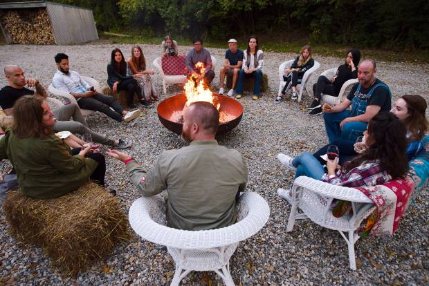 Troutbeck's salon evenings might culminate in fireside conversation