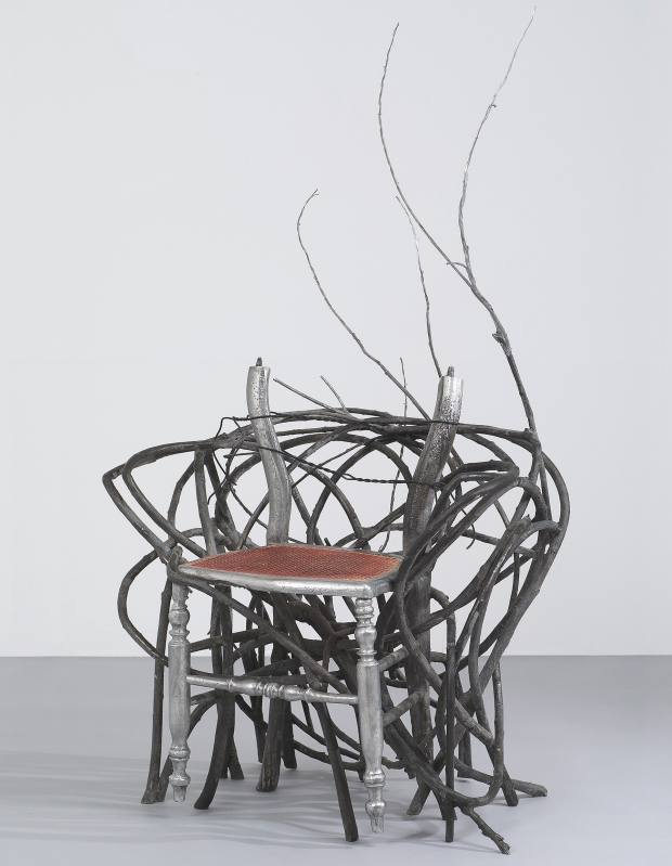 Vincent Dubourg cast-aluminium and wicker Buisson Aluminium chair, about €75,000, from Carpenters Workshop Gallery