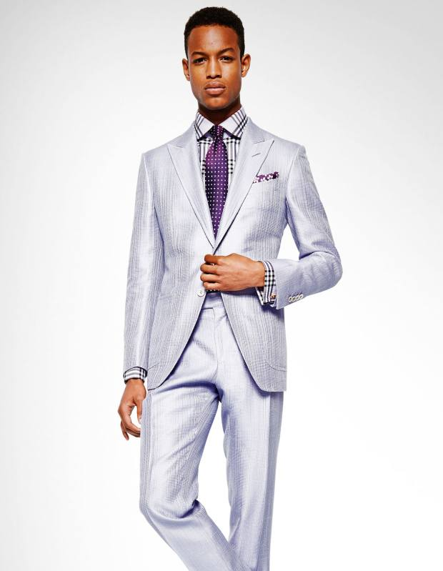 Tom Ford silk/cotton jacket, £2,450, and matching trousers, £790