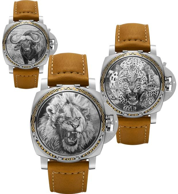 Panerai for Purdey gold inlaid and engraved covers
