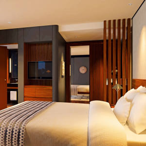a bedroom on Aqua Mekong