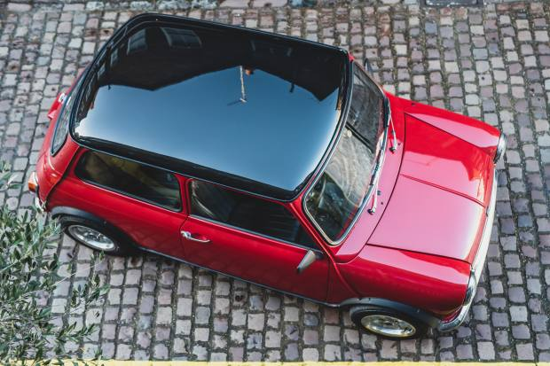 A full-length fabric sunroof can be specified