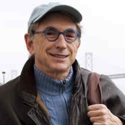 Michael Tilson Thomas at the farmers' market, situated in and around the San Francisco Ferry Building.