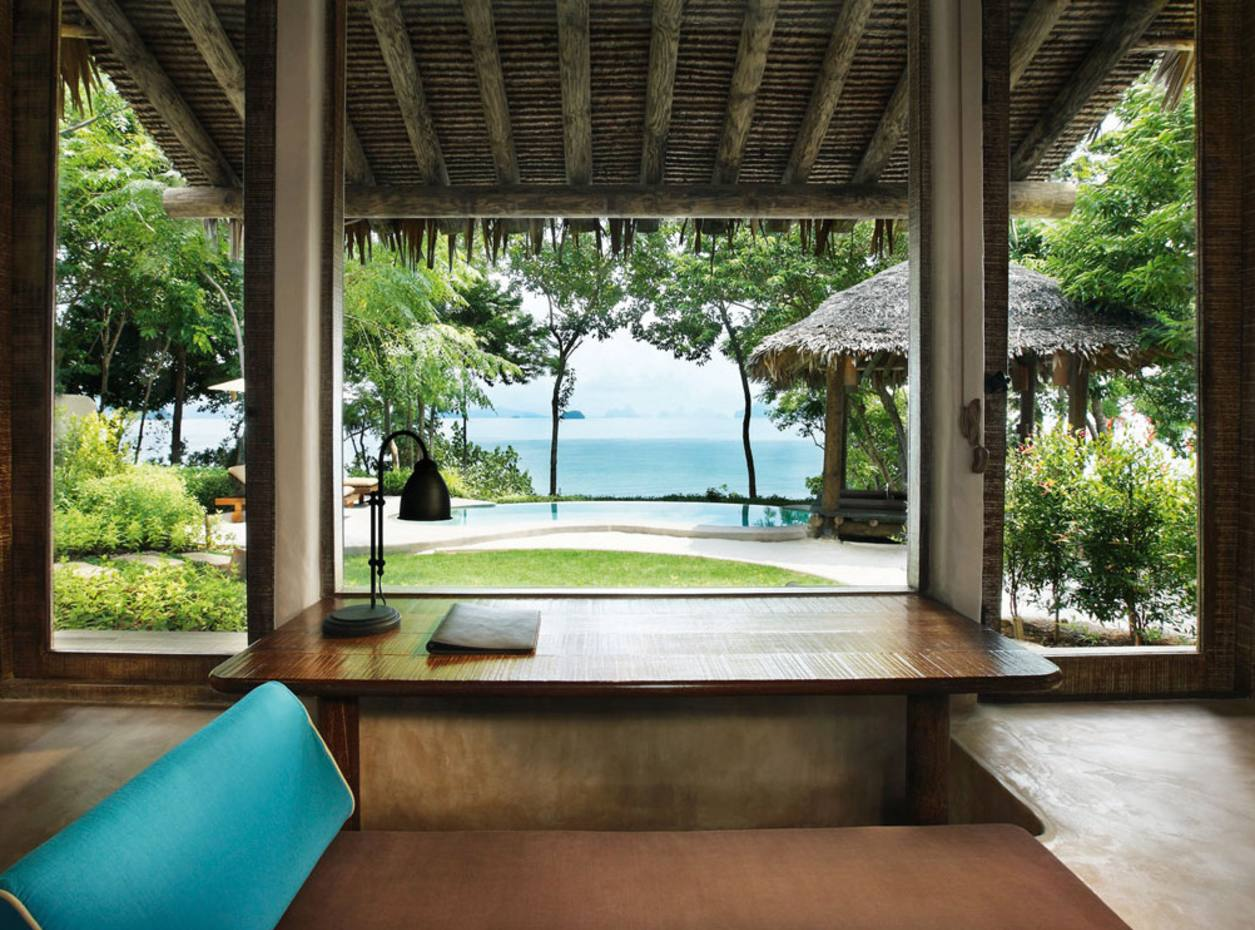 Looking out over the Andaman Sea from one of the private villas at Naka Island.