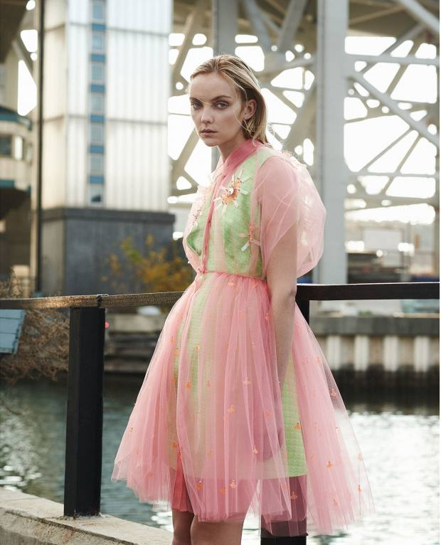 Delpozo silk jacquard, tulle and sequin dress, about £2,740