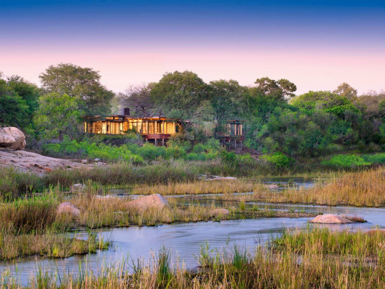 One of Tengile River Lodge's nine suites set within 26,000 acres in Sabi Sand, South Africa