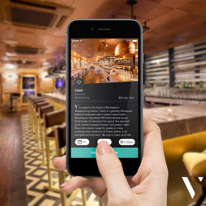 The Velocity app can be used to book tables at more than 1,100 restaurants