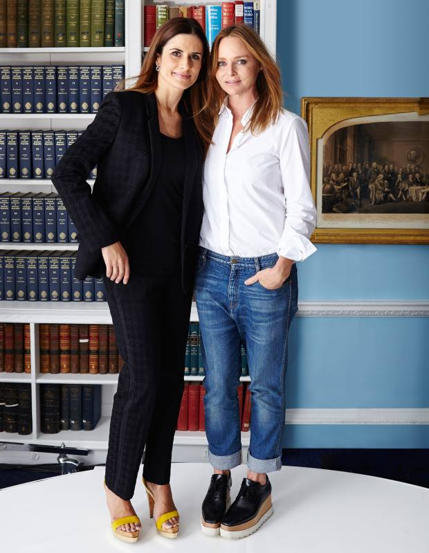 Livia Firth (left) and Stella McCartney at the Royal Institution of Great Britain