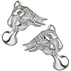 Gourma Elephant cufflinks, £220; 20 per cent of proceeds go to Tusk