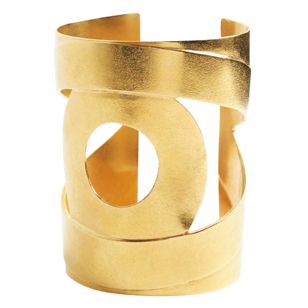 Kalmar cuff, £525: handmade in London from recycled brass