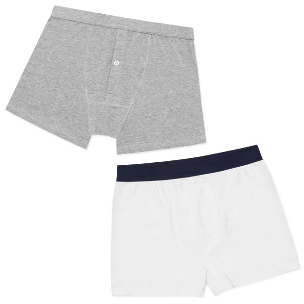 From left: Hamilton and Hare boxer briefs, £35, and Tubular trunks, £32