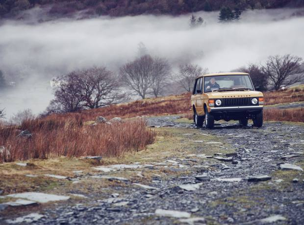 The Range Rover 1978 on the road