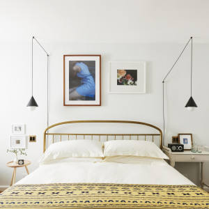 Rooms at The Line DC in Washington feature fine-art photography and custom light fixtures