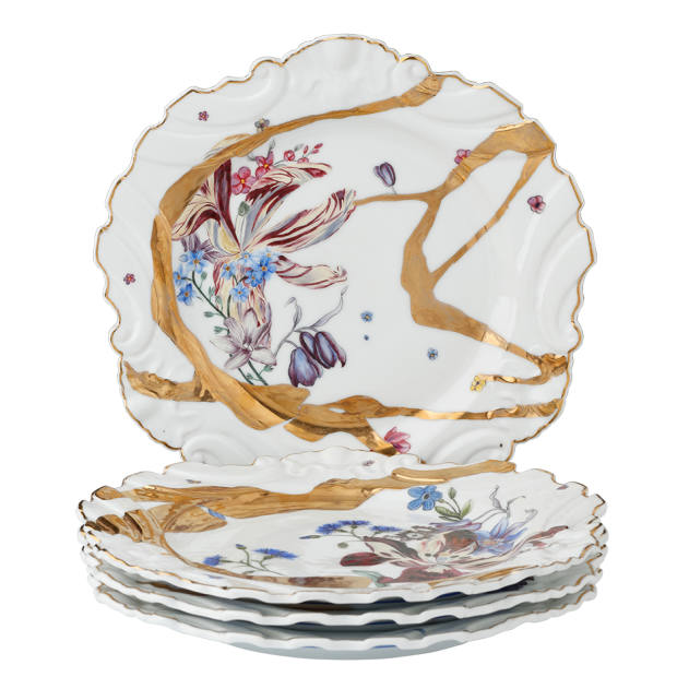 A selection of dinner plates from de Gournay's Alchemy collection
