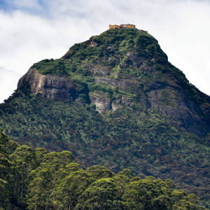 The conical form of Adam's Peak