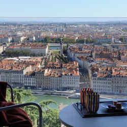 Panoramic views of Lyon from Villa Maïa