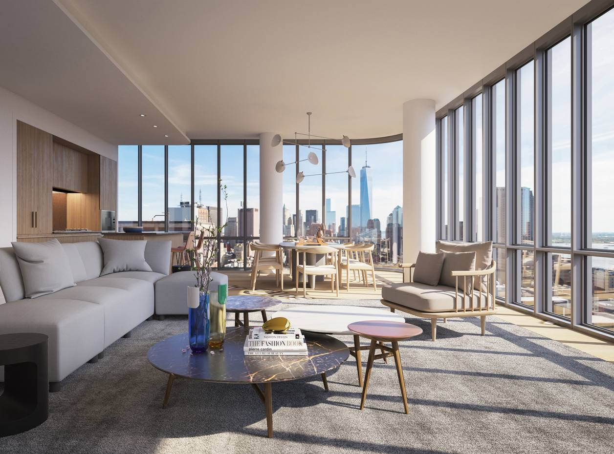 An apartment at New York's 30-storey 565 Broome SoHo, where apartments with saltwater pools start from $13.5m