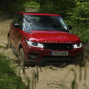 The All-New Range Rover Sport, from £51,500, proving its all-terrain capabilities during day two of its launch event – in the Malvern Hills