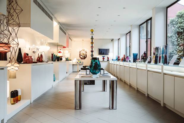 Venini's showroom in Murano