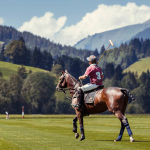 The Hublot Polo Gold Cup tournament takes place in the picturesque Alpine setting of Gstaad