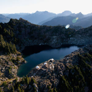 Clayoquot Wilderness Resort's fly‑camp on Ursus Mountain, Vancouver Island