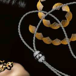 From far left: 18ct gold Benguelê necklace by H Stern and Grupo Corpo,£7,750. Wellendorff white gold Black Silk Temptation necklace, £21,320. Hand-braided platinum and 18ct gold fan necklace by Catherine Martin, price on request. Bruco bracelet in rose gold and diamonds by Mattia Cielo, $47,800.