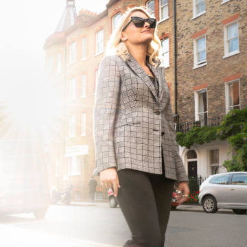 """Dashing Tweeds is now designing womenswear, with made-to-measure jackets in its """"modern, urban tweeds"""" from £925"""