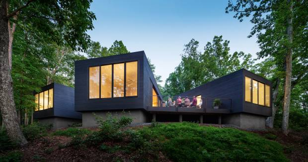 ArchitectureFirm's Katie and Danny MacNelly designed their own retreat beside the James River in Virginia