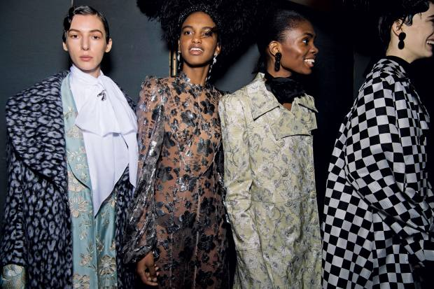 Erdem's Beaton-inspired a/w 2020 show at the National Portrait Gallery last month