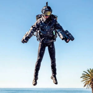 Gravity Industries' Jet Suit, £340,000, has four arm-mounted engines and one on the flyer's back